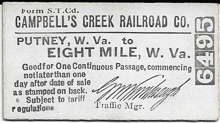 Campbells Creek Railroad - WVNC Rails